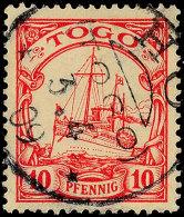 HO 3.4.09 Klar Auf 10 Pfg Kaiseryacht, Katalog: 9 OHO 3. 4. 09 Clear On 10 Pfg Imperial Yacht, Catalogue: 9 O - Colony: Togo