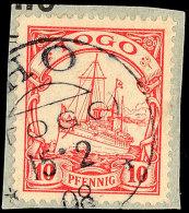 HO, Kpl. Stempel Vom 15.2.08, Auf 10 Pfg, Katalog: 9 BS/oHO, Complete Stamp From 15. 2. 08, On 10 Pfg,... - Colony: Togo