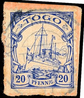 KETE-KRATSCHI, Kpl. Stempel (wie üblich Immer Etwas Schwach) Auf  PA 20 Pfg, Katalog: 10 BSKETE-KRATSCHI,... - Colony: Togo