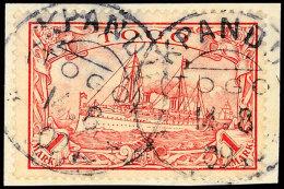 KPANDU 14.8 09, 2mal Klar Auf Briefstück 1 Mark Kaiseryacht, Katalog: 16 BSKPANDU 14. 8 09, Two Times... - Colony: Togo