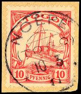 NOEPE 10.3 11, Klar Und Zentrisch Auf Briefstück 10 Pf. Kaiseryacht, Katalog: 9 BSNOEPE 10. 3 11, S.O.T.N... - Colony: Togo