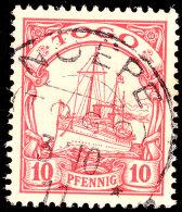 NOEPE 3 10 11, Zentrisch Auf 10 Pf. Schiffszeichnung (alter Ausruf 40), Katalog: 9 ONOEPE 3 10 11, Centered On... - Colony: Togo