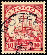NOEPE, Kpl. Stempel Vom 26.2. Auf 10 Pfg, Katalog: 9 ONOEPE, Complete Stamp From 26. 2. On 10 Pfg, Catalogue: 9... - Colony: Togo