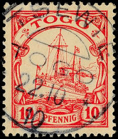 TSEWIE 22.10.10 Klar Auf 10 Pfg Kaiseryacht, Katalog: 9 OTSEWIE 22. 10. 10 Clear On 10 Pfg Imperial Yacht,... - Colony: Togo