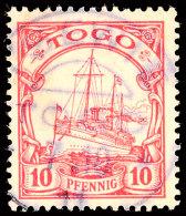 TSEWIE 7 10 11, Zentrisch Auf 10 Pf. Kaiseryacht Ohne Wz., Katalog: 9 OTSEWIE 7 10 11, Centered On 10 Pf.... - Colony: Togo