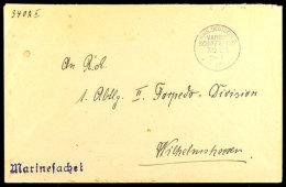 MSP No. 2a 26.7.17 (SMS Roon), Klar Auf Marinesachen-Brief Nach Wilhelmshaven  BFMSP No. 2a 26. 7. 17 (SMS... - Germany