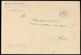 MSP Nr. 43 (SMS Panther), Violetter Abschlag Ohne Datum Aus 1917 Auf Dienstbrief Nach Kiel  BFMSP No. 43 (SMS... - Germany