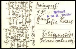 """(MSP Nr. 55), L2-Feldpostsonderstempel """"Feldpost S.M.S. Wettin"""" Auf Karte Vom 5.IV.15  BF(MSP No. 55),... - Germany"""