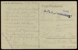 "(MSP Nr. 137), Feldpost-Sonderstempel ""....Feldpost S.M.S. Mecklenburg"" Auf Karte Vom 27.12.14  BF(MSP No.... - Germany"