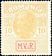 10 Bani, Dunkelroter Aufdruck Auf Stempelmarke Auf Glänzendem Papier, Tadellos Postfrisch Mit Der... - Germany