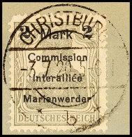 2 Mark Auf 2 1/2 Pfg Germania, Aufdruck In Type AIIIa, Tadellos Gestempelt Auf Briefstück, Gepr. Klein BPP,... - Germany