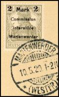 2 M Auf 2 1/2 Pf. In Type AIIIb Tadellos Auf Briefstück, Gepr. Klein VP, Mi. 250.-, Katalog: 23AIIIb BS2 M... - Germany