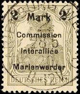 2 Mark Auf 2 1/2 Pfg Germania, Aufdruck In Type AIb, Tadellos Gestempelt, Gepr. Klein BPP, Mi. 80.-, Katalog: 23AIb... - Germany