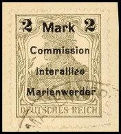 2 Mark Auf 2 1/2 Pf In Type BIIa Tadellos Auf Briefstück, Gepr. Klein VP, Mi. 80.-, Katalog: 23BIIa BS2... - Germany