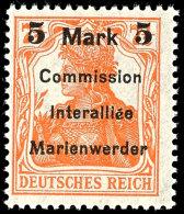 5 M Auf 7 1/2 Pf Tadellos Postfrisch, Mi. 90,--, Katalog: 25 **5 M On 7 + Pf In Perfect Condition Mint Never... - Germany