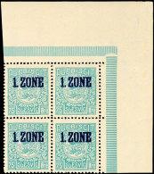 1 - 75 Öre, Postfrischer 4er-Block Aus Der Rechten Oberen Bogenecke, Katalog: 15/24 **1 - 75 °re,... - Germany