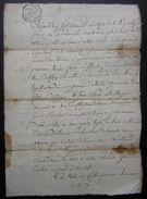 Authon, Canton De Brisambourg L'an 7 (Charente), Vente Par Louis Fourré à Jean Emier - Manuscripts