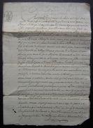 1784 Brisambourg  (Charente), Vente Par Jean Rousseau Louis Martin Et Marie Jeanne Pion , Cachet République??? - Manuscripts