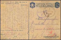 Italien 1944, Italienische Propagandakarte Eines Italienischen Hilfswilligen Bei Fp-Nr. 10427 (= Dulag 185,... - Germany