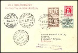 80 C.,10 C. Und 5 C. (2) Freimarken Mit Stempel CITTA DEL VATIKANO 19.5.33 Auf Erstflugumschlag... - Vatican