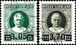 1934, Provisorien Kpl. Gestempelt, Tadellos, Div. Signaturen (u.a. Diena), Mi. 1.200,--, Katalog: 39/44 O1934,... - Vatican