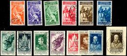 1935/36, Zwei Kpl. Sätze Je Tadellos Gestempelt, Mi. 200,--, Katalog: 45/58 O1935 / 36, Two Complete Sets... - Vatican