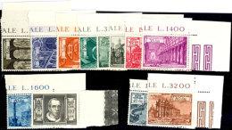 """1949, """"Basiliken"""" Kpl. Tadellos Postfrisch. Bis Auf 13 Und 100 L. (Seitenrand) Alles Eckrandstücke, Mi. 140,--... - Vatican"""