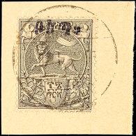 """Menelik Mit Schutzaufdruck """"Bosta"""" (amharisch), Tadellos Gestempelt, Kohl-Handbuch Nr. 15/21 B, Mi.Nr, 1/7 III =... - Ethiopia"""