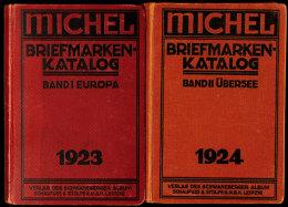 1923, Michel-Katalog Europa Und 1924 Übersee, Zwei Historische Bände Mit Interessanten Texten Aus Sehr... - Stamps