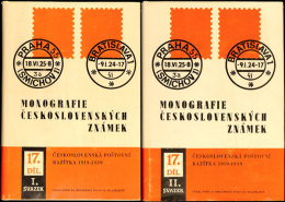 CSSR 1988 :  Monografie Ceskosl. ZNAMEK, Stempel Von  1919 - 1939, Zwei Handbücher Mit über 1.100 Seiten,... - Stamps