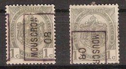 Zegel Nr. 81 (2x) Voorafgestempeld / Preo Nr. 1147 MOUSCRON 08 Posities A & B ; Staat Zie Scan ! Inzet 7,5 € ! - Precancels
