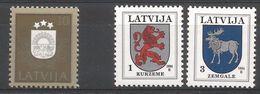 Lettonie 1991 270 + 1994 334-35 ** Armoiries Lion élan - Lettonie