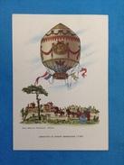 Cartolina Formato Grande Viaggiata - Aerostati Mongolfiera - Aerostato Di Josepf Mongolfier 1784 - Altri