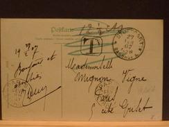 72/663  CP ALLEMAGNE 1907 POUR LA FRANCE TAXEE - Deutschland