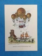 Cartolina Formato Grande Viaggiata - Aerostati Mongolfiera - Aerostato A Flotta Di Dupuis Delcourt 1824 - Postcards