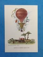 Cartolina Formato Grande Viaggiata - Aerostati Mongolfiera - Aerostato Di Francesco Orlandi 1844 - Altri