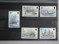 1991 Falkland Yvert  544/8 **  Bateaux  Ships Scott 486a/9a Michel 489 II / 491 II  SG  Xx - Falkland