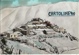 Umbria-perugia-castelluccio Di Norcia Veduta Paese Ricoperto Di Neve - Italia