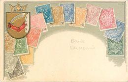 Carte Representant Des Timbres Poste De Bosnie Herzegovine - Bosnie-Herzegovine