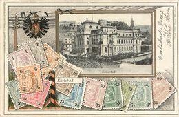 Karlsbad : Carte Representant Des Cartes De Tchequie - Czech Republic