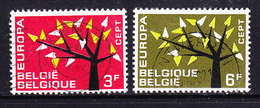 Europa Cept 1962 Belgium 2v Used (36336E) - 1962