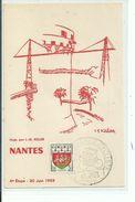 44 NANTES Cyclisme ,Tour De France 1959 Tampon 6e Etape ,Rennes Blain - Nantes
