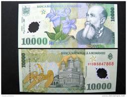 UNC Banknote From Romania #112 10,000 Lei 2000, Flowers Church Bird, Polymer Plastic - Rumania