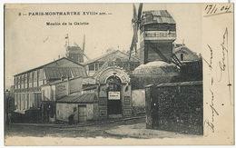 Montmartre 8 Moulin De La Galette G.A.D. Paris  Voyagé 1904  Windmill  Grand Bal Ball House - Arrondissement: 18