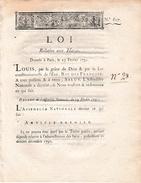 25 Février 1791 - LOI Relative Aux HARAS - 6 Articles - - Historical Documents
