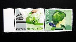 Schweiz 2452/3 **/mnh, EUROPA/CEPT '2016, Umweltbewußt Leben - Suisse