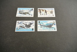 K12160- Set MNH- British Antarctric Territory -  1992-  Penguin And Seals- - W.W.F.
