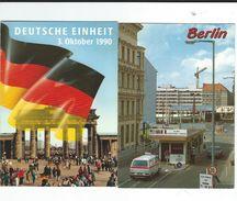 CPM  BERLIN  Lot 2 Cartes Brandenburger 9/11/1989+checkpoint Charlie TBE - Allemagne