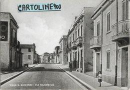 Calabria-reggio Calabria-villa S.giovanni Via Nazionale Veduta Anni 40/50 - Other Cities