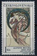 PIA  -  CECOSLOVACCHIA  -  1969  : La Donna R L' Arte - Quadro Di Alfons Mucka -    (Yv  1733) - Altri